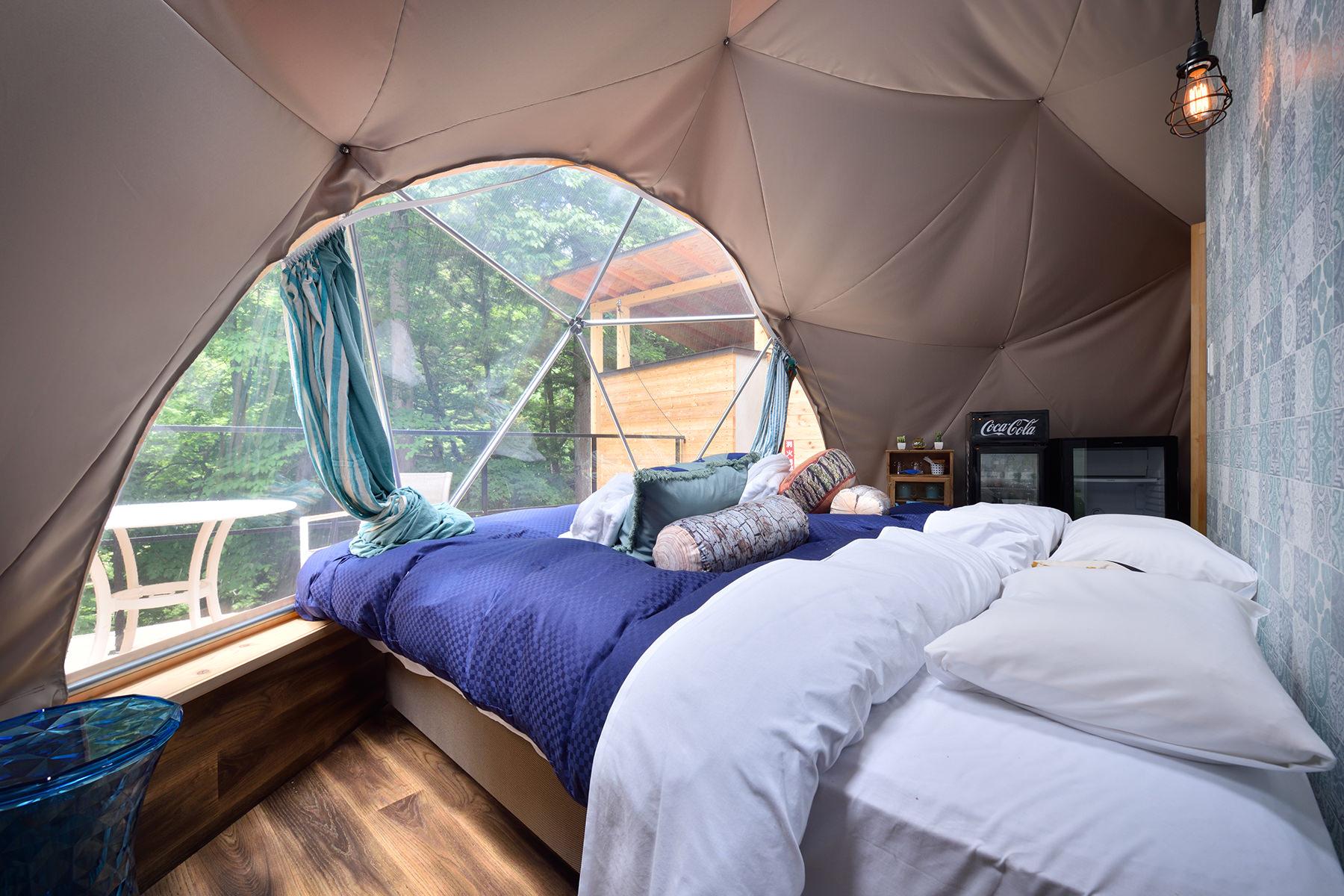 アイランドブルーのドームテント