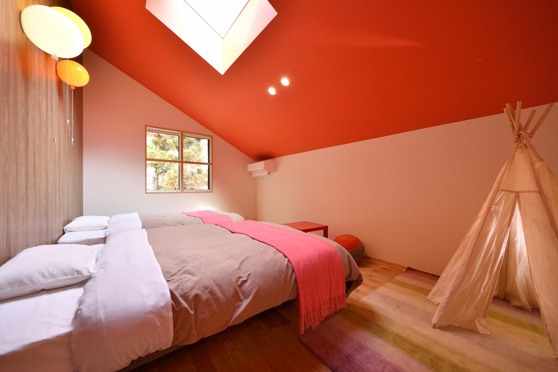 アップルオレンジ ベッドルーム